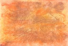 Oranje waterverfachtergrond stock foto's