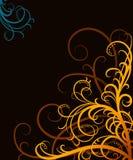 Oranje wervelingen Royalty-vrije Stock Afbeelding