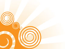 Oranje wervelingsachtergrond Royalty-vrije Stock Afbeelding