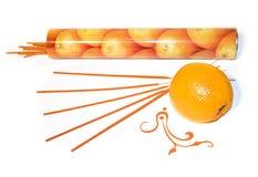 Oranje wierook Royalty-vrije Stock Afbeeldingen