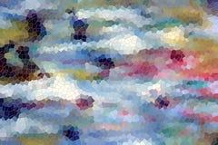 Oranje witte blauwe gele vierkanten Kleurrijk patroon, ontwerp Royalty-vrije Stock Fotografie