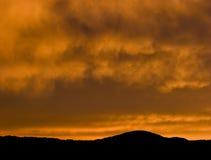 Oranje wolken Stock Afbeeldingen