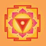 Oranje Yantra Royalty-vrije Stock Afbeeldingen