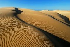 Oranje zacht woestijnzand Royalty-vrije Stock Fotografie