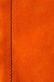 Oranje zeemlappen met naad Stock Afbeeldingen