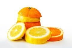 Oranje Zitrone Stockfotos