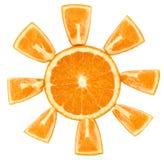 Oranje Zon Stock Foto