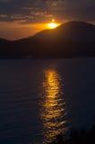 Oranje Zonsondergang Royalty-vrije Stock Foto's