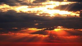 Oranje Zonsondergang stock video