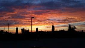 Oranje Zonsondergang Royalty-vrije Stock Afbeelding