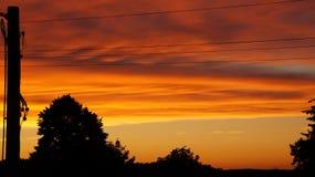 Oranje Zonsondergang stock foto