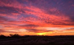 Oranje zonsonderganghemel Stock Fotografie