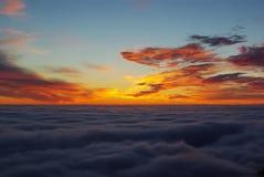 Oranje zonsopgang Royalty-vrije Stock Foto's