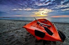 Oranje zonsopgang Royalty-vrije Stock Afbeeldingen