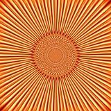 Oranjegele achtergrond in de vorm van de zon Stock Foto