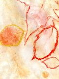 Oranjegele Gouache Stock Afbeeldingen