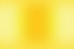 Oranjegele halftone pop-art retro achtergrond stock illustratie