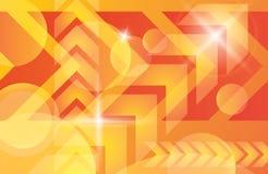 Oranjegele heldere technologie vectorachtergrond Royalty-vrije Stock Foto's