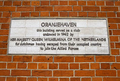 Oranjehaven Plaque in Hyde Park Place, London Stock Image