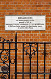 Oranjehaven Plaque in Hyde Park Place, London Royalty Free Stock Photos