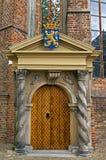 Oranjepoortje在Jacobijner教会里,吕伐登 免版税库存照片
