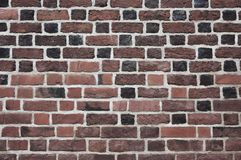 Oranjerode bakstenen muur Royalty-vrije Stock Fotografie