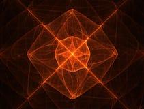 Oranjerode bloesem Stock Fotografie