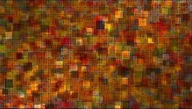 Oranjerood mozaïek Stock Foto's