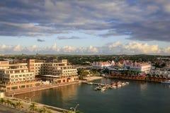 Oranjestad港口, Aruba 免版税库存图片