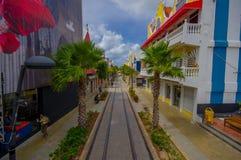 ORANJESTAD,阿鲁巴- 2015年11月05日:使用的口岸 库存图片