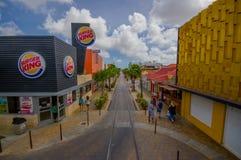 ORANJESTAD,阿鲁巴- 2015年11月05日:街道  免版税库存照片