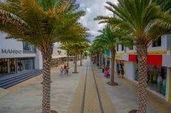 ORANJESTAD,阿鲁巴- 2015年11月05日:街道  图库摄影