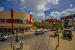 ORANJESTAD,阿鲁巴- 2015年11月05日:街道  库存图片