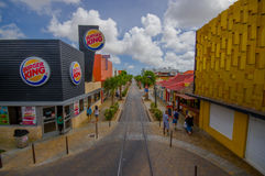 ORANJESTAD, ARUBA - 5 DE NOVEMBRO DE 2015: Ruas de Fotos de Stock Royalty Free