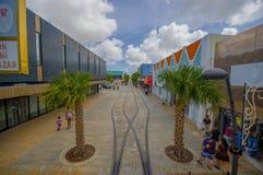 ORANJESTAD, ARUBA - 5 DE NOVEMBRO DE 2015: Ruas de Fotos de Stock