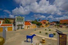 ORANJESTAD, ARUBA - 5 DE NOVIEMBRE DE 2015: Calles de Imagenes de archivo