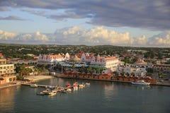 Oranjestad Aruba, horisont Royaltyfri Bild