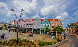 ORANJESTAD ARUBA, LISTOPAD, - 05, 2015: Port używać Obrazy Stock