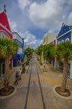 ORANJESTAD ARUBA, LISTOPAD, - 05, 2015: Port używać Zdjęcia Stock