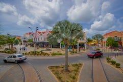 ORANJESTAD ARUBA, LISTOPAD, - 05, 2015: Port używać Zdjęcie Stock