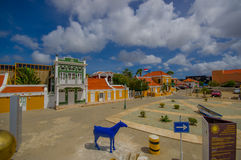 ORANJESTAD ARUBA, LISTOPAD, - 05, 2015: Ulicy Obrazy Stock