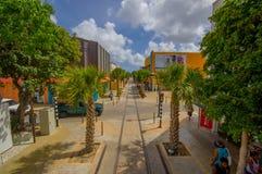 ORANJESTAD ARUBA, LISTOPAD, - 05, 2015: Ulicy Zdjęcie Stock
