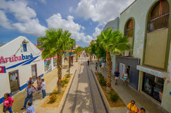 ORANJESTAD ARUBA, LISTOPAD, - 05, 2015: Ulicy Fotografia Royalty Free