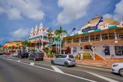 ORANJESTAD ARUBA - NOVEMBER 05, 2015: Använd port Royaltyfri Bild