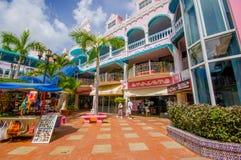 ORANJESTAD ARUBA - NOVEMBER 05, 2015: Använd port Royaltyfria Bilder