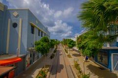 ORANJESTAD ARUBA - NOVEMBER 05, 2015: Gator av Arkivbild