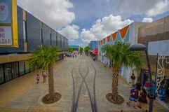 ORANJESTAD ARUBA - NOVEMBER 05, 2015: Gator av Arkivfoton