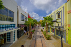 ORANJESTAD, ARUBA - NOVEMBER 05, 2015: Port used Royalty Free Stock Photography