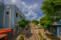 ORANJESTAD, ARUBA - NOVEMBER 05, 2015:Streets of Stock Photography