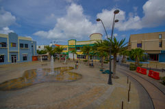 ORANJESTAD, ARUBA - NOVEMBER 05, 2015:Streets of Royalty Free Stock Image